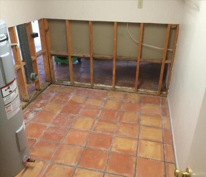 mold remediated tile floor