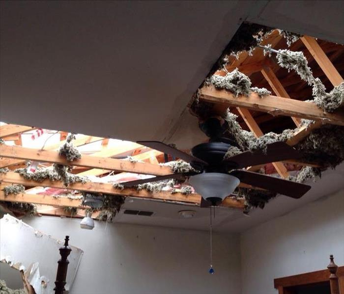 Storm Damage Collapsed Ceiling in Kerrville